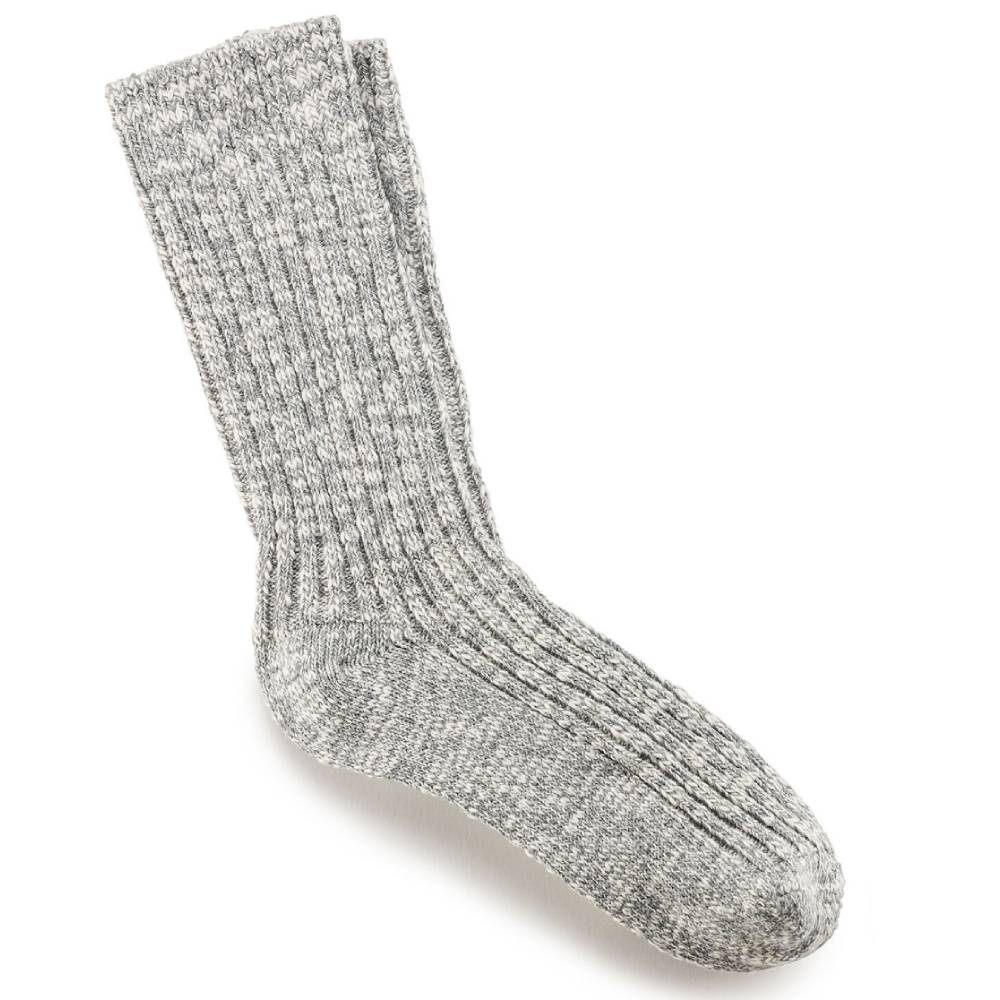 Birkenstock Cotton Slub Socks - Grey & White WOMEN - Clothing - Intimates & Hosiery BIRKENSTOCK Teskeys