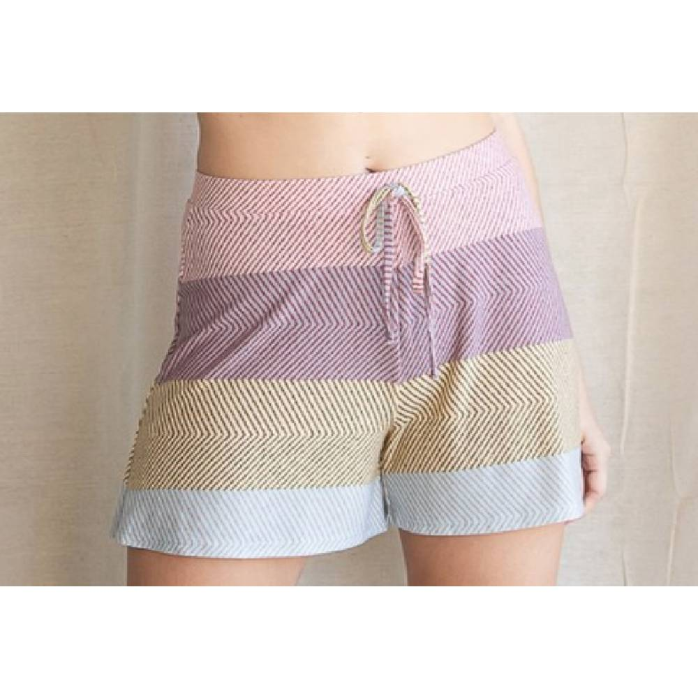 Women's Jersey Multi Stripe Shorts WOMEN - Clothing - Shorts Bucket List Teskeys