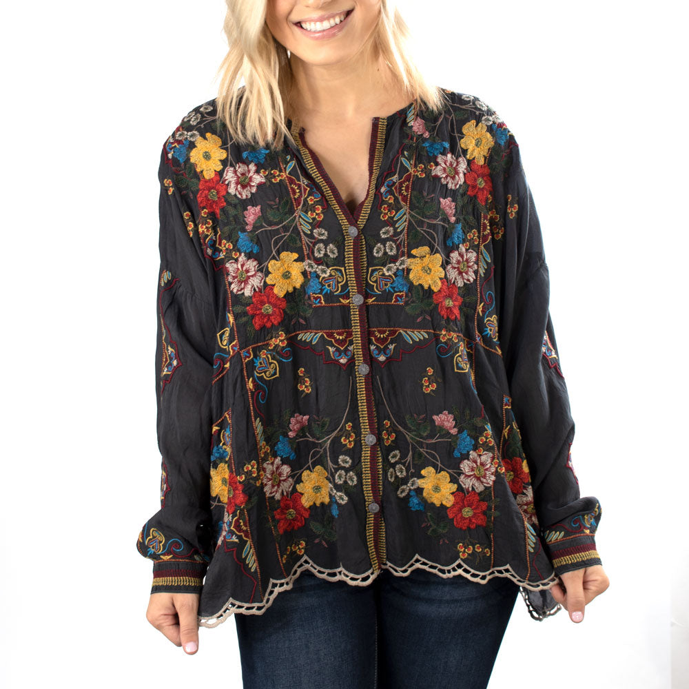 Johnny Was Cabo Blouse WOMEN - Clothing - Tops - Long Sleeved JOHNNY WAS COLLECTION Teskeys