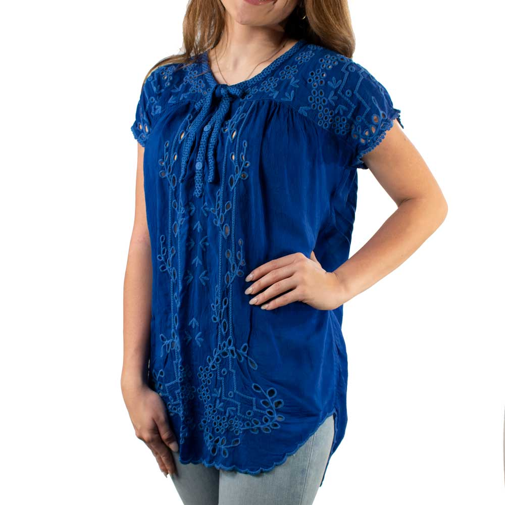 Johnny Was Jimina Blouse WOMEN - Clothing - Tops - Short Sleeved JOHNNY WAS COLLECTION Teskeys