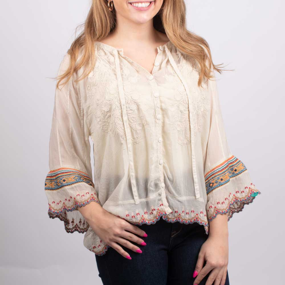 Johnny Was Nasiba Blouse WOMEN - Clothing - Tops - Long Sleeved JOHNNY WAS COLLECTION Teskeys