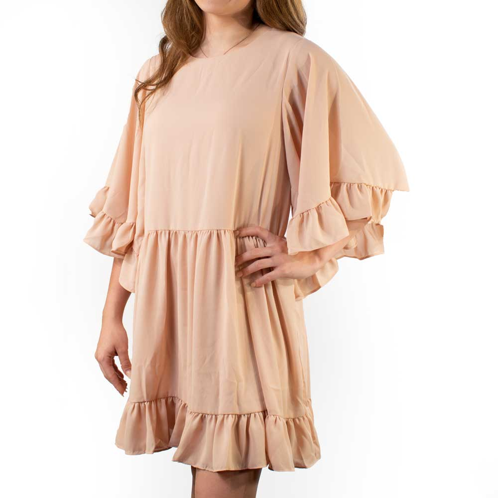 Ruffled Dress WOMEN - Clothing - Dresses CARAMELA INC Teskeys