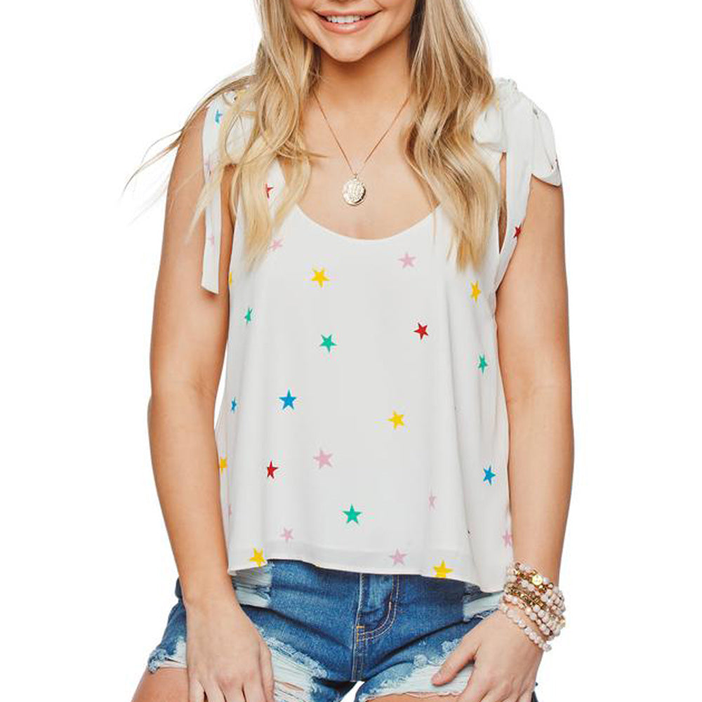 Buddy Love Lima Rainbow Star Tie-Shoulder Tank WOMEN - Clothing - Tops - Sleeveless BUDDY LOVE Teskeys