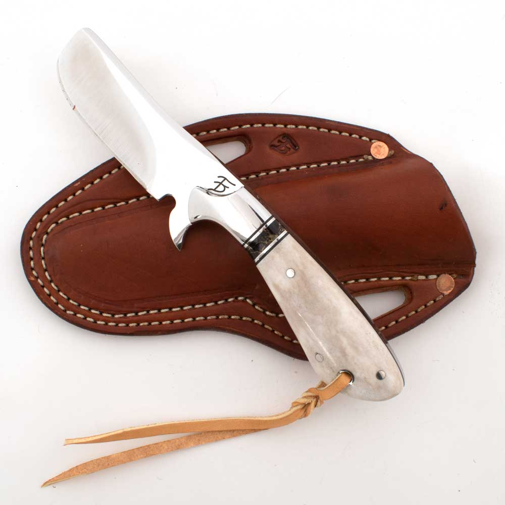 David Fleming Axis Horn Handle Custom Knife Knives - Knives David Fleming Teskeys