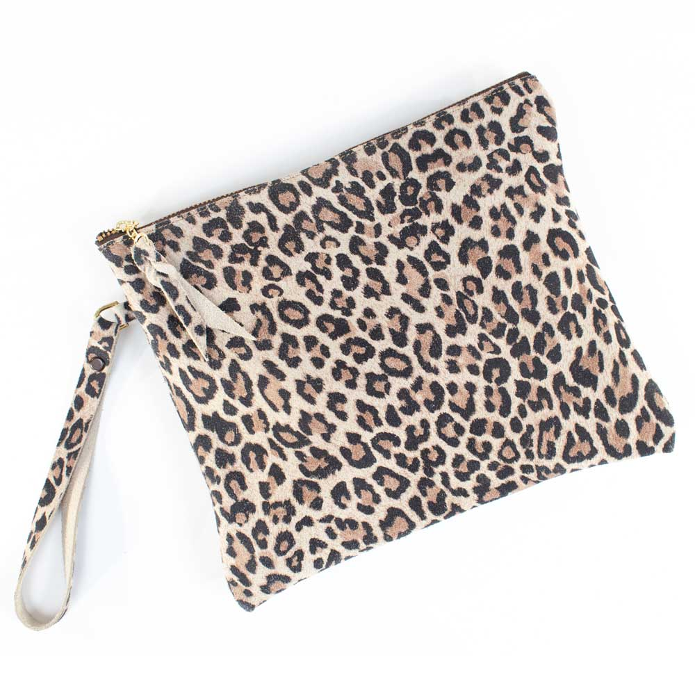 McIntire Saddlery Leopard Print Clutch WOMEN - Accessories - Handbags - Clutches & Pouches MCINTIRE SADDLERY Teskeys
