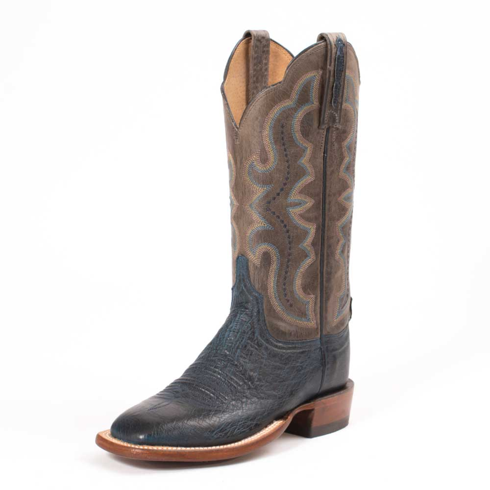 Lucchese Navy Smooth Antelope Boot