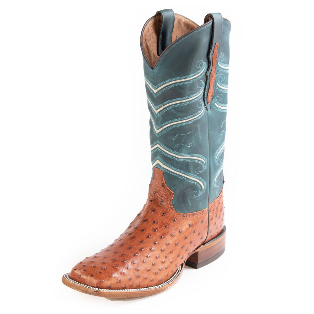 Tony Lama Brandy Hermoso FQ Ostrich MEN - Footwear - Exotic Western Boots TONY LAMA BOOTS Teskeys