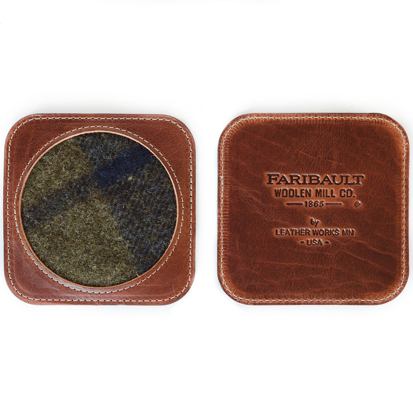 Faribault Wool Brown Shadow Plaid Coaster HOME & GIFTS - Home Decor - Decorative Accents Faribault Woolen Mill Co. Teskeys