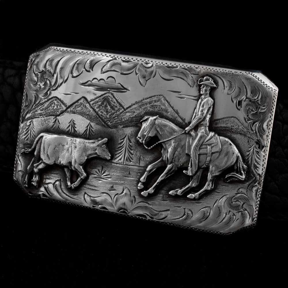 Comstock Heritage Sterling Silver Cutter Buckle ACCESSORIES - Additional Accessories - Buckles COMSTOCK HERITAGE Teskeys