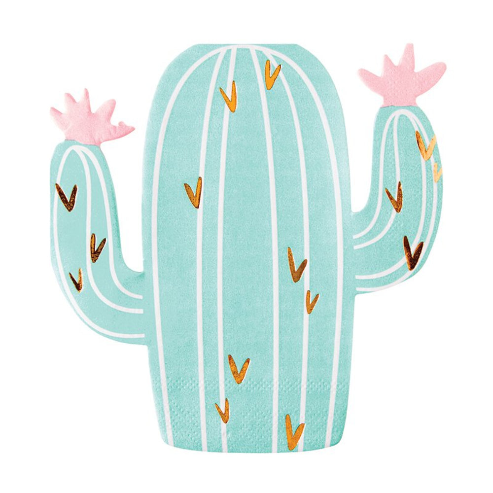 Cactus Shaped Cocktail Napkins - 20ct. HOME & GIFTS - Tabletop + Kitchen CREATIVE BRANDS Teskeys