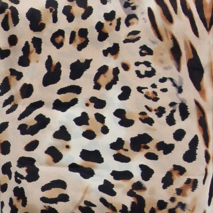 Leopard Charmeuse Silk Wild Rag ACCESSORIES - Additional Accessories - Wild Rags & Scarves WYOMING TRADERS Teskeys