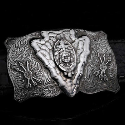 Comstock Heritage Sterling Silver Chase Buckle ACCESSORIES - Additional Accessories - Buckles COMSTOCK HERITAGE Teskeys