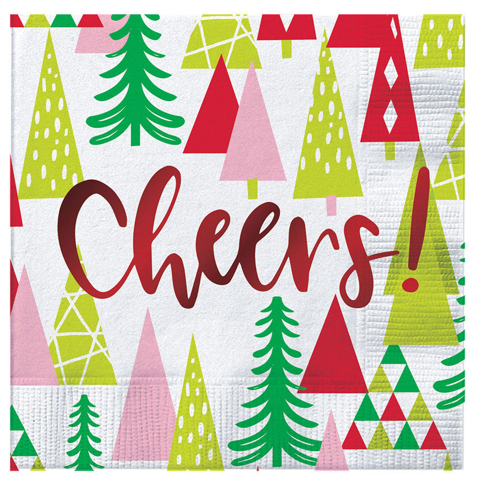 "Christmas ""Cheers"" Cocktail Napkins HOME & GIFTS - Tabletop + Kitchen - Bar Accessories CREATIVE BRANDS Teskeys"