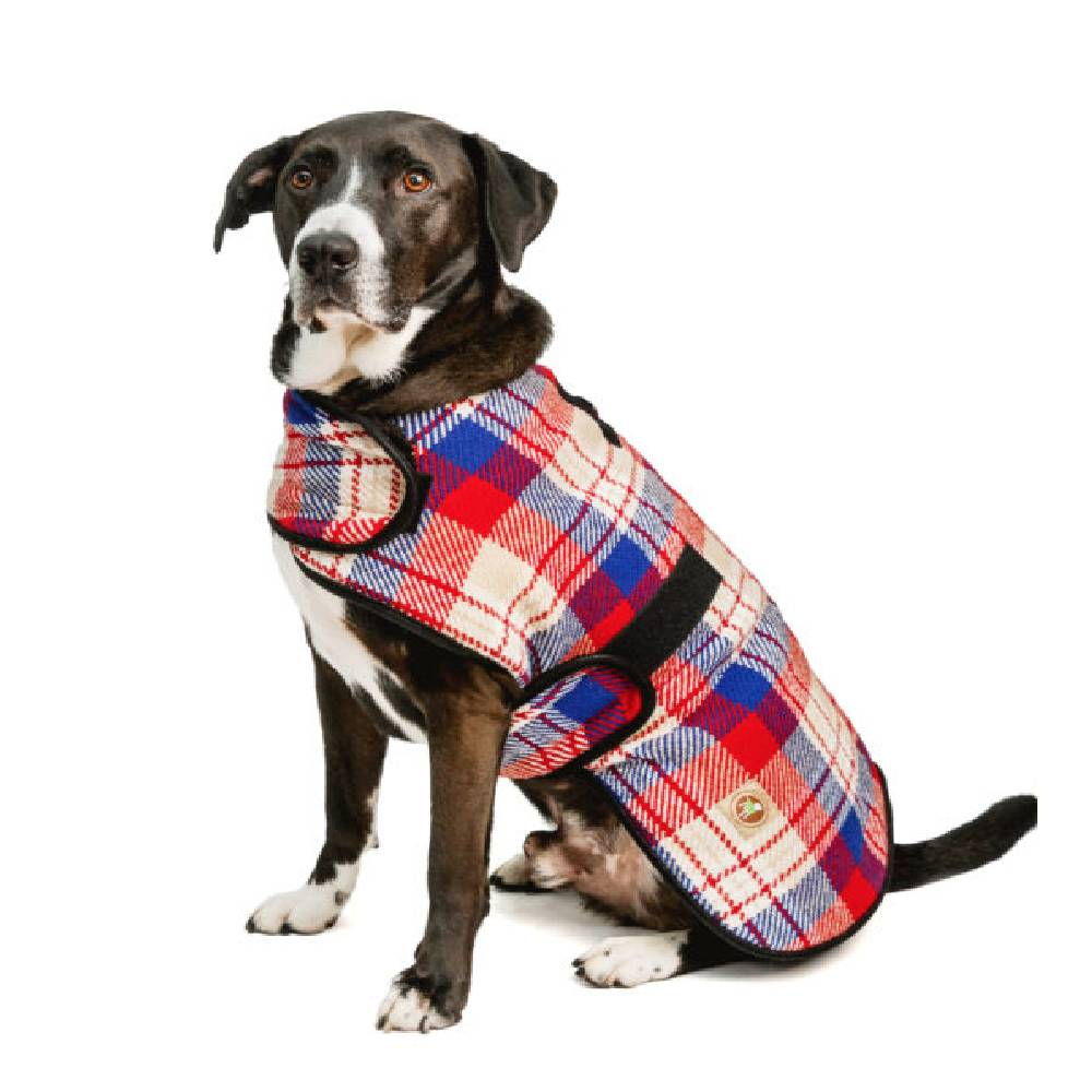 Red & Blue Plaid Chilly Dog Coat FARM & RANCH - Animal Care - Pets - Accessories - Kennels & Beds Chilly Dog Teskeys