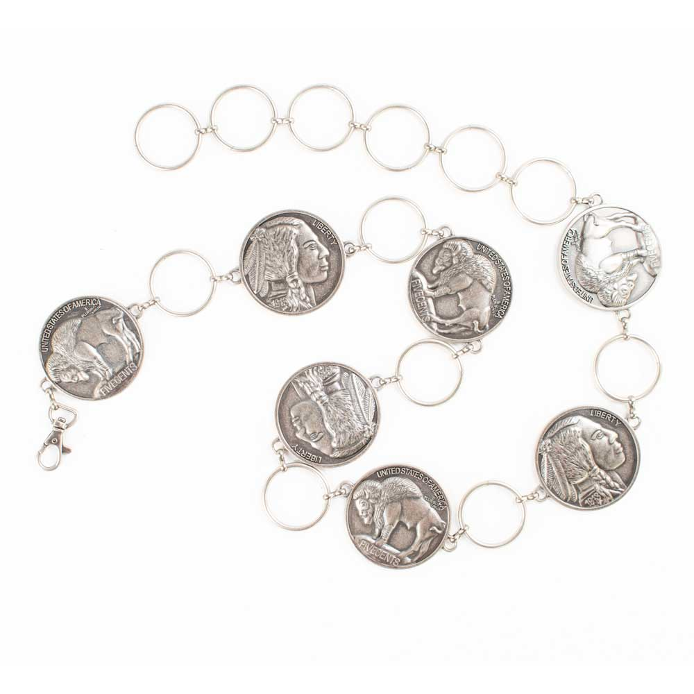 Angel Ranch Buffalo Nickel Chain Belt WOMEN - Accessories - Belts M&F Western Products Teskeys