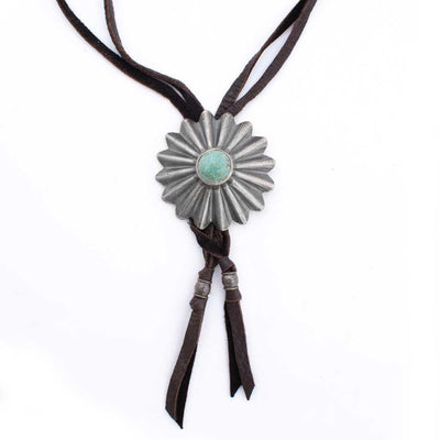 Arroyo Seco Sterling Silver Daisy Bolo Choker WOMEN - Accessories - Jewelry - Necklaces PEYOTE BIRD DESIGNS Teskeys