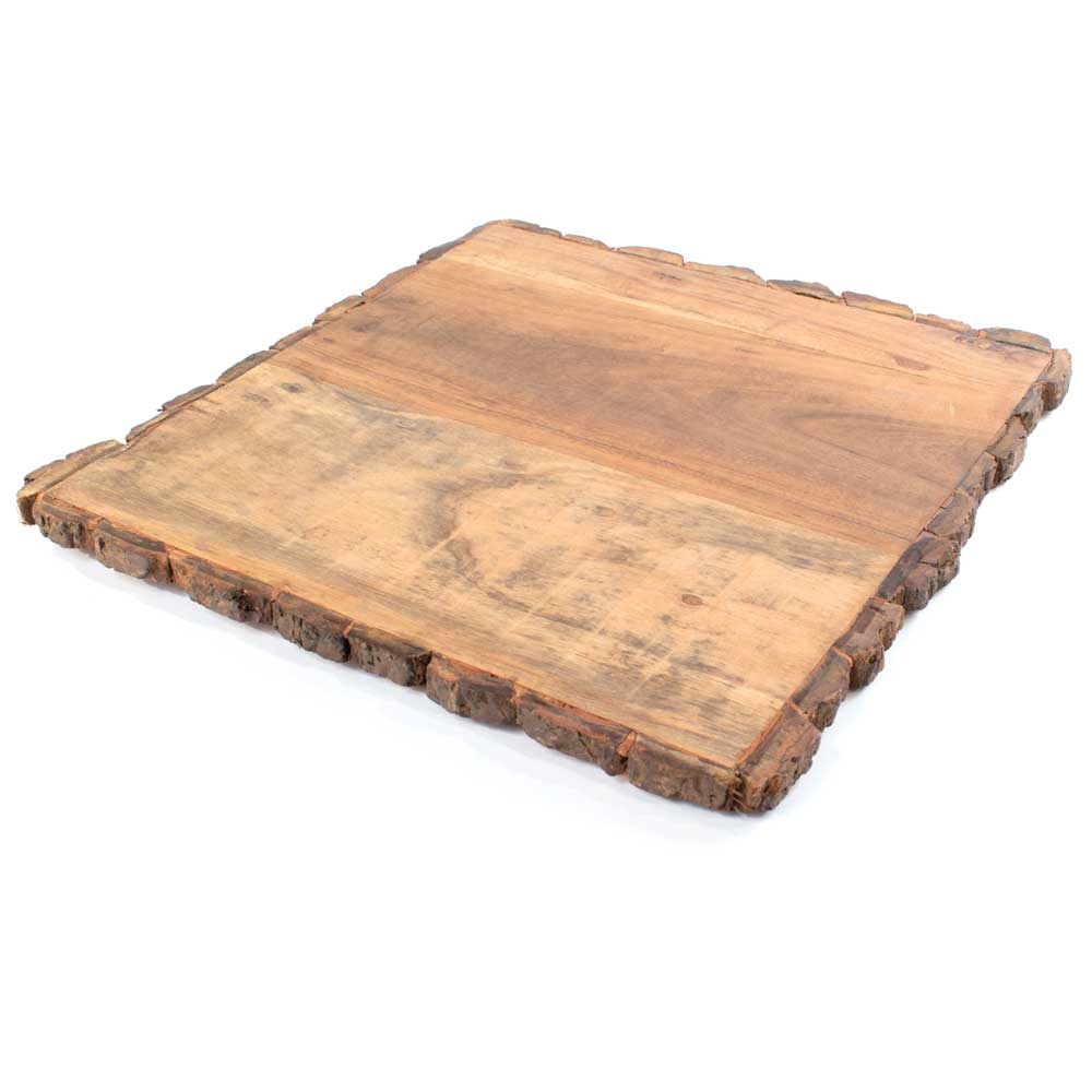 Square Wood Cutting Board HOME & GIFTS - Tabletop + Kitchen - Kitchen Decor Creative Co-Op Teskeys