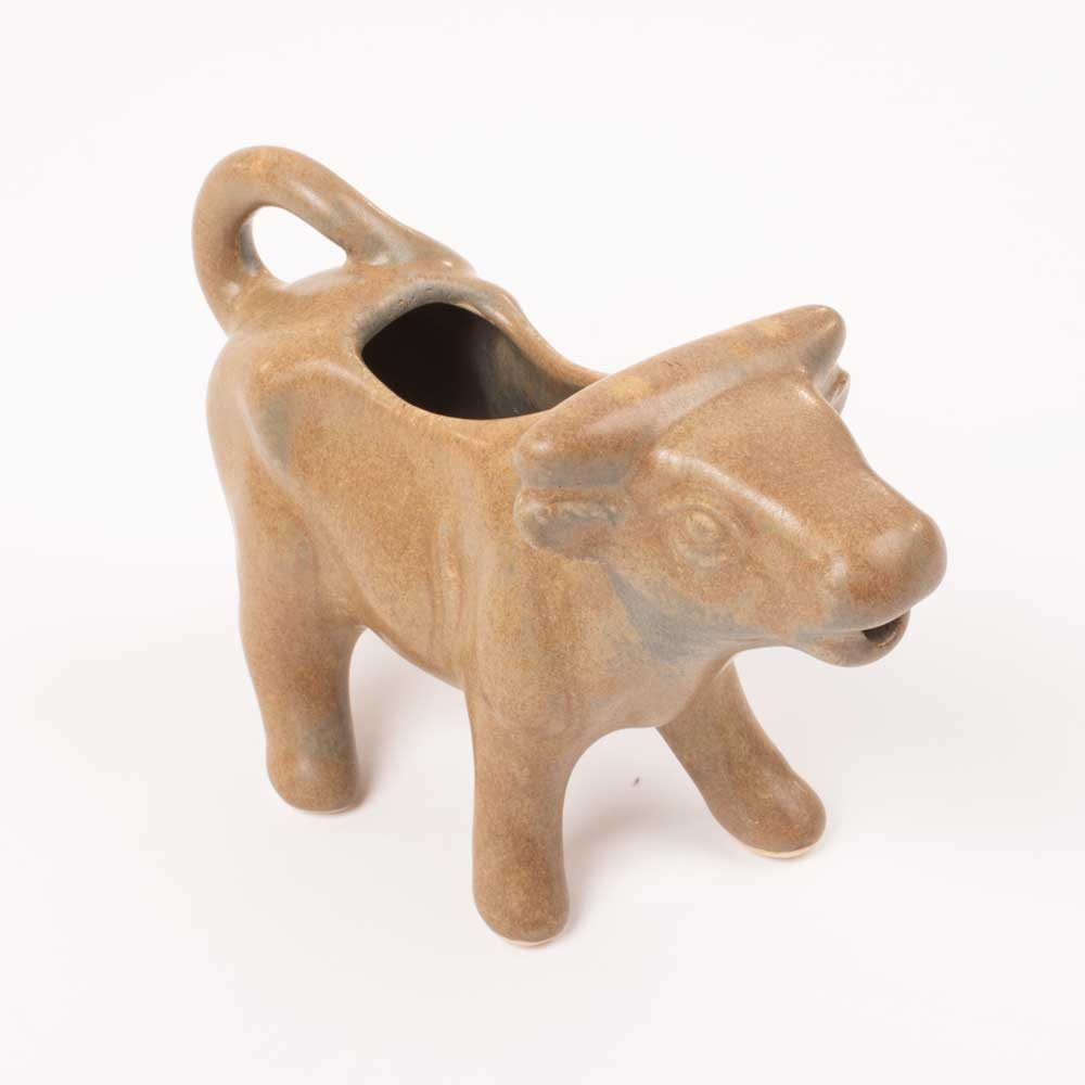 Stoneware Cow Pitcher HOME & GIFTS - Tabletop + Kitchen - Kitchen Decor Creative Co-Op Teskeys