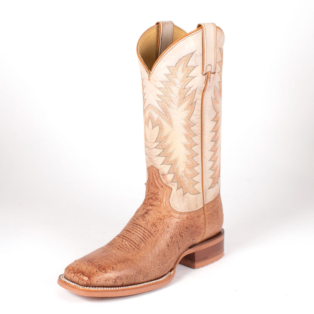 Justin Breck Vintage Tan Smooth Ostrich Boot