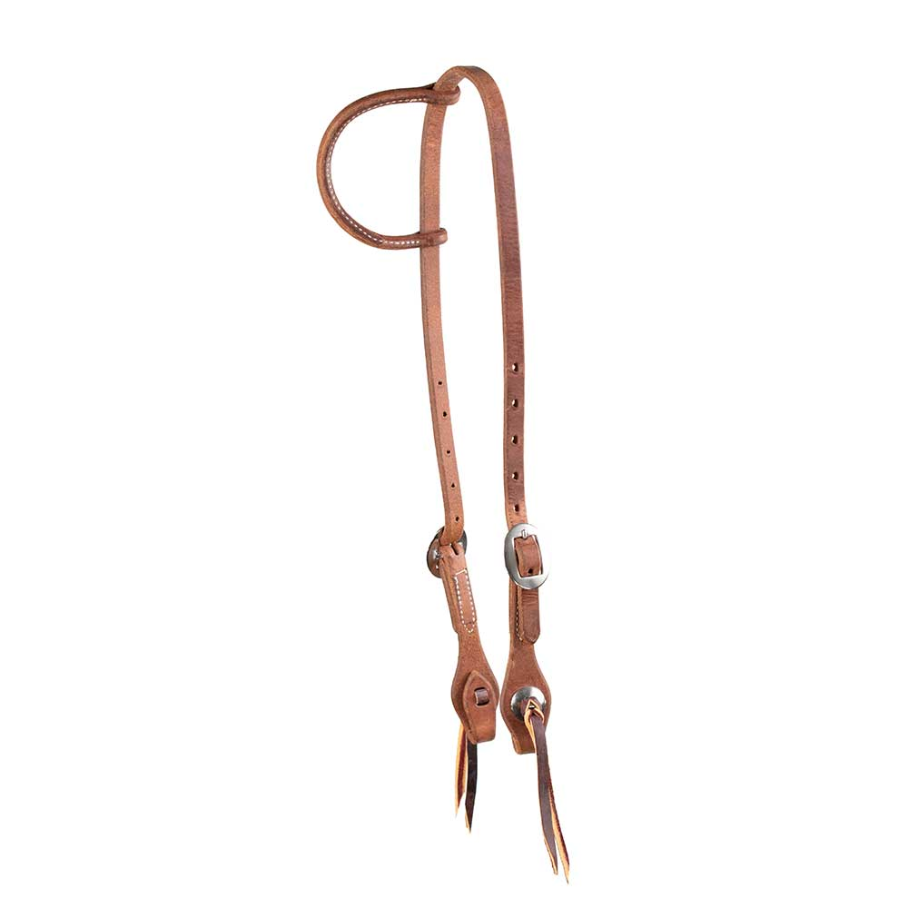 Teskey's Harness Leather One Ear Headstall Tack - Headstalls - One Ear Teskey's Teskeys