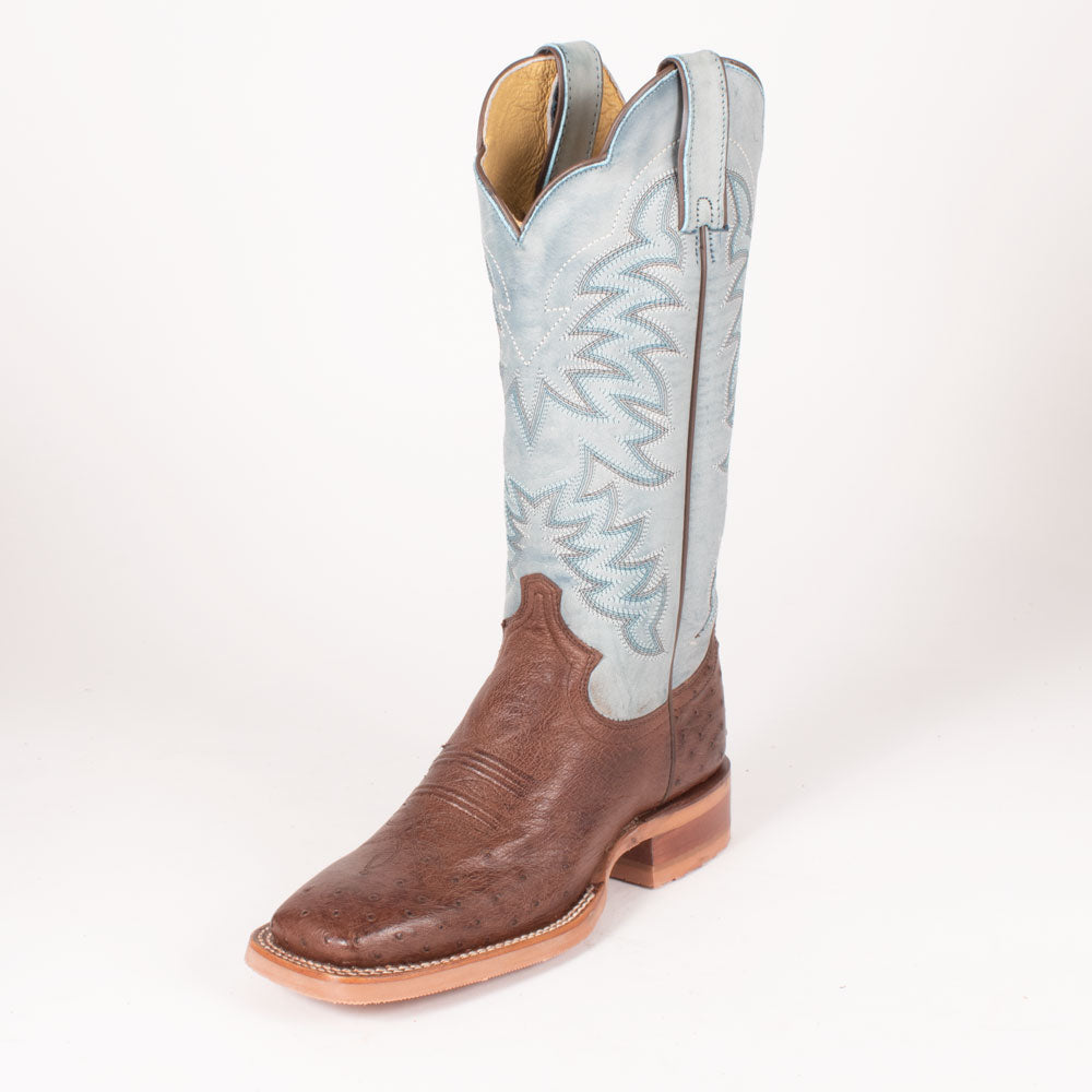 Justin Ralston Antique Brown Smooth Ostrich Boot
