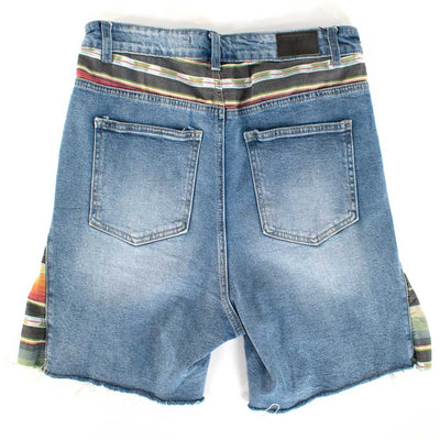 L & B Denim Serape Shorts WOMEN - Clothing - Shorts LUCKY & BLESSED Teskeys