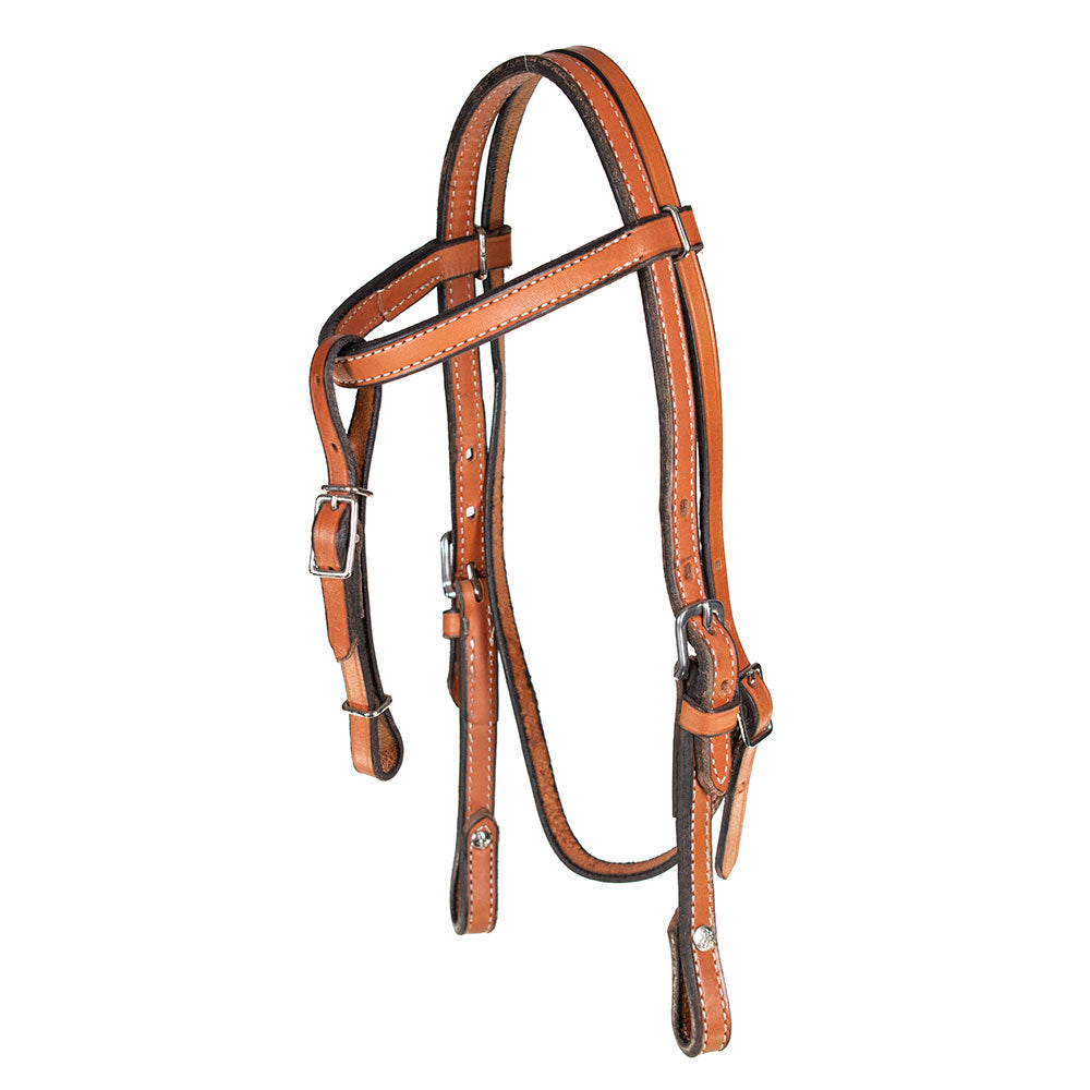 Pony Headstall with Curb Strap Tack - Pony Tack - Headstalls Teskey's Teskeys