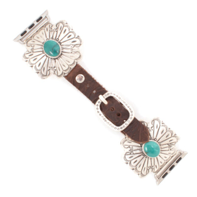 38mm Silver Cross With Turquoise Apple Watchband WOMEN - Accessories - Jewelry - Watches & Watch Bands WILD HORSE WATCHIN' BANDS Teskeys