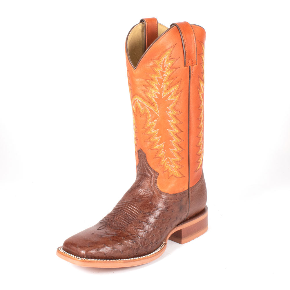 Justin Breck Vintage Brown Smooth Ostrich Boot