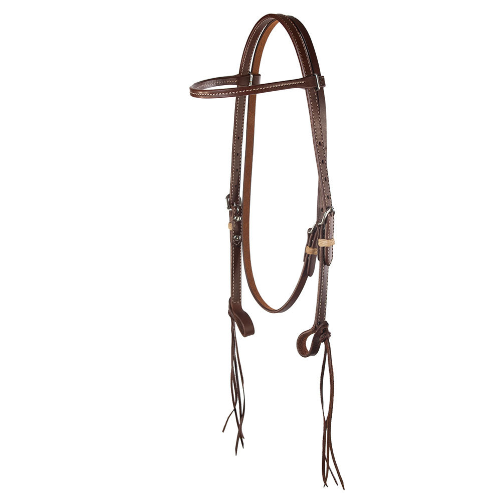 Patrick Smith Harness Leather Browband Headstall Tack - Headstalls - Browband Patrick Smith Teskeys