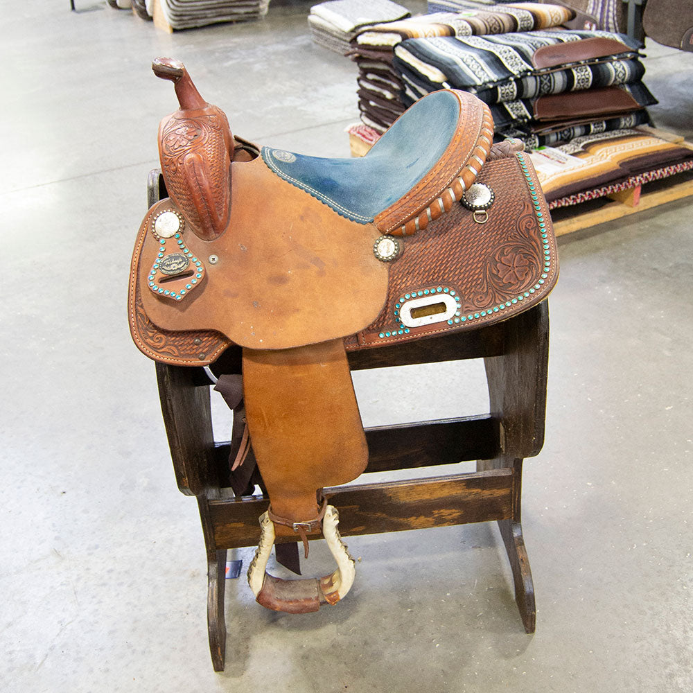 "14"" USED TESKEY'S BARREL SADDLE Saddles - Used Saddles - BARREL Teskey's Teskeys"