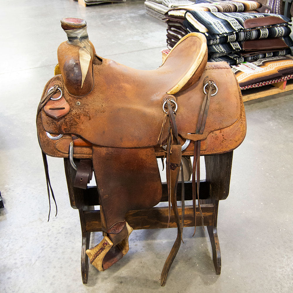 "15"" USED SULPHUR RIVER RANCH SADDLE Saddles - Used Saddles - RANCH Sulphur River Teskeys"