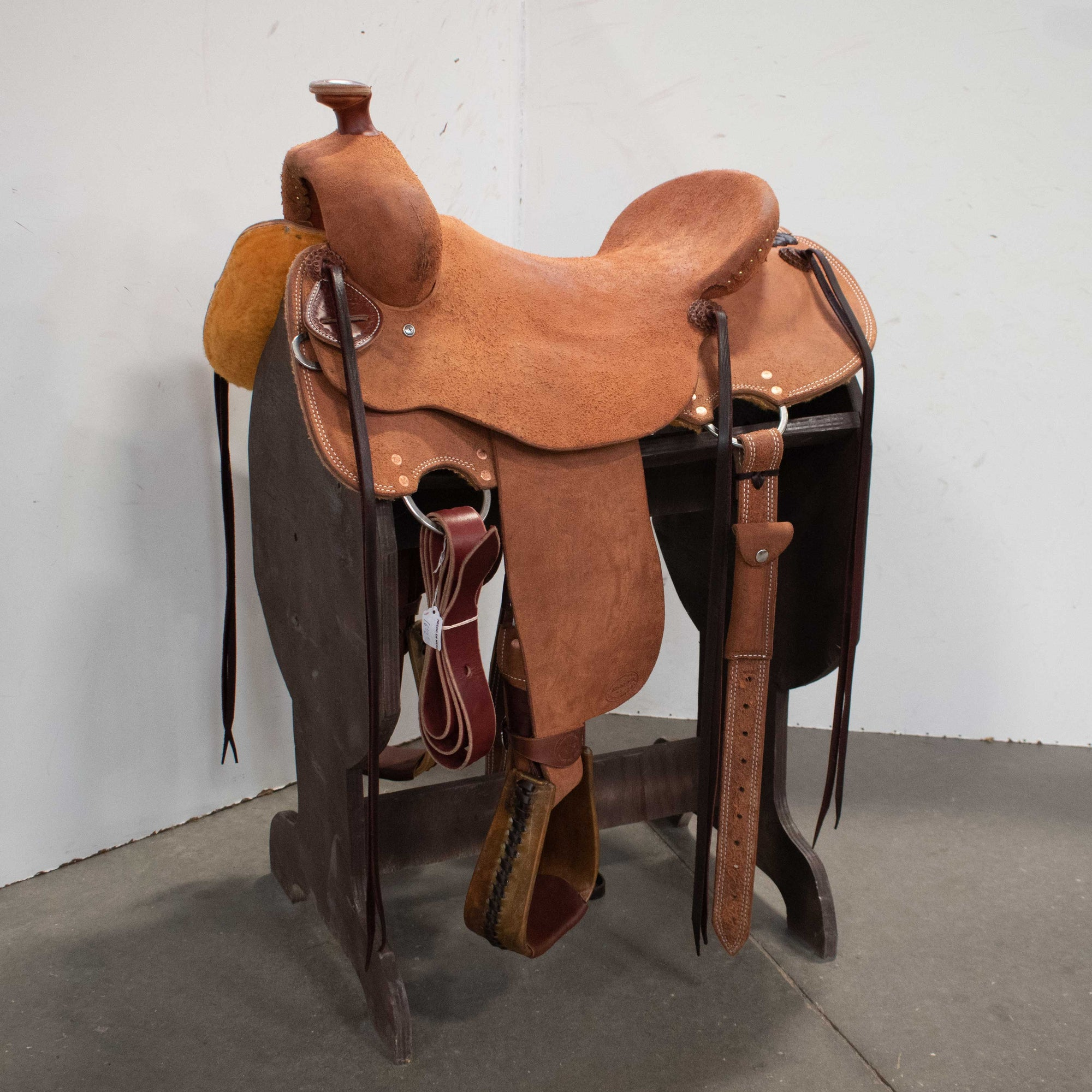 Teskey's Roughout Leather Lace Browband Headstall With Leaf Tooling Tack - Headstalls - Browband Teskey's Teskeys