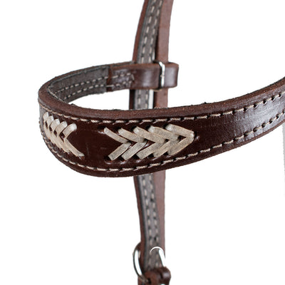 Teskey's Browband Headstall with Rawhide Tack - Headstalls - Browband Teskey's Teskeys