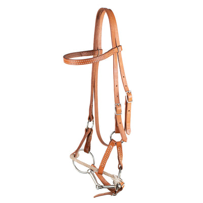 Teskey's Lariat Noseband Combination Headstall Tack - Headstalls - Browband Teskey's Teskeys
