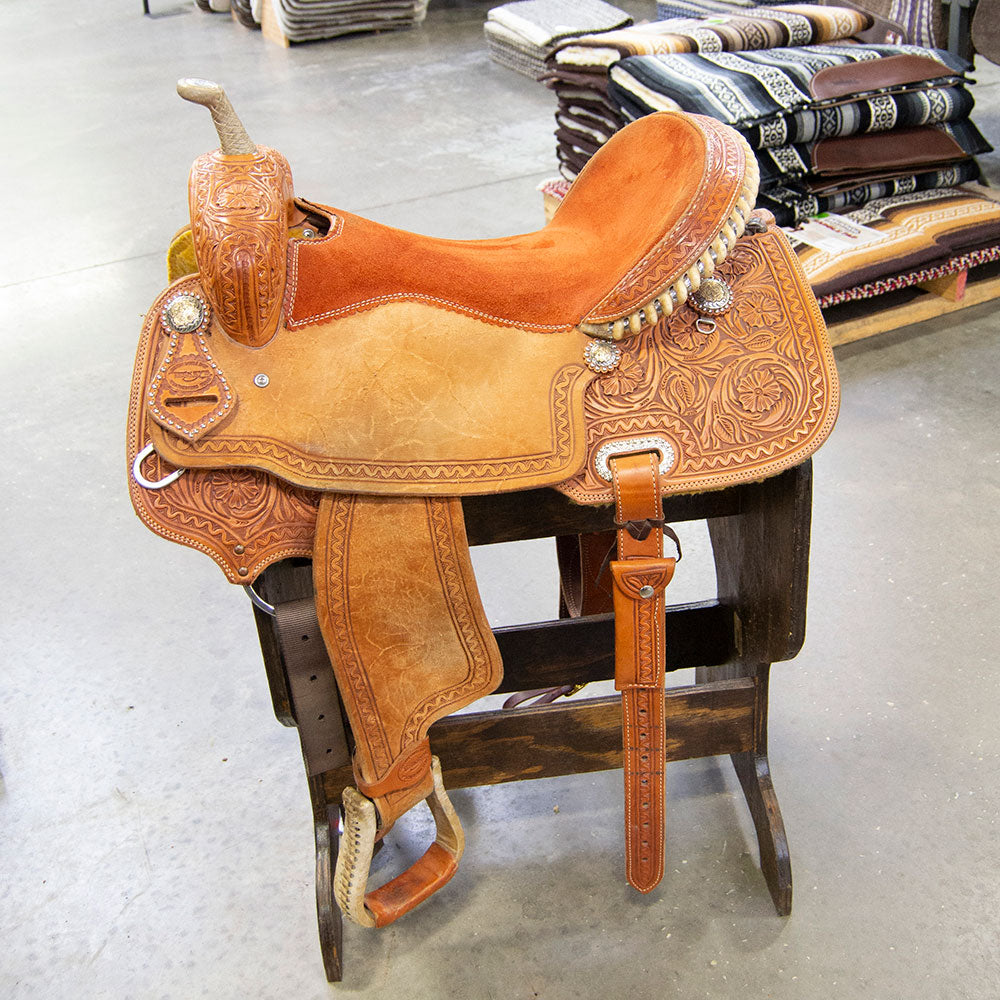 "17"" USED TESKEY'S BARREL SADDLE Saddles - Used Saddles - BARREL Teskey's Teskeys"
