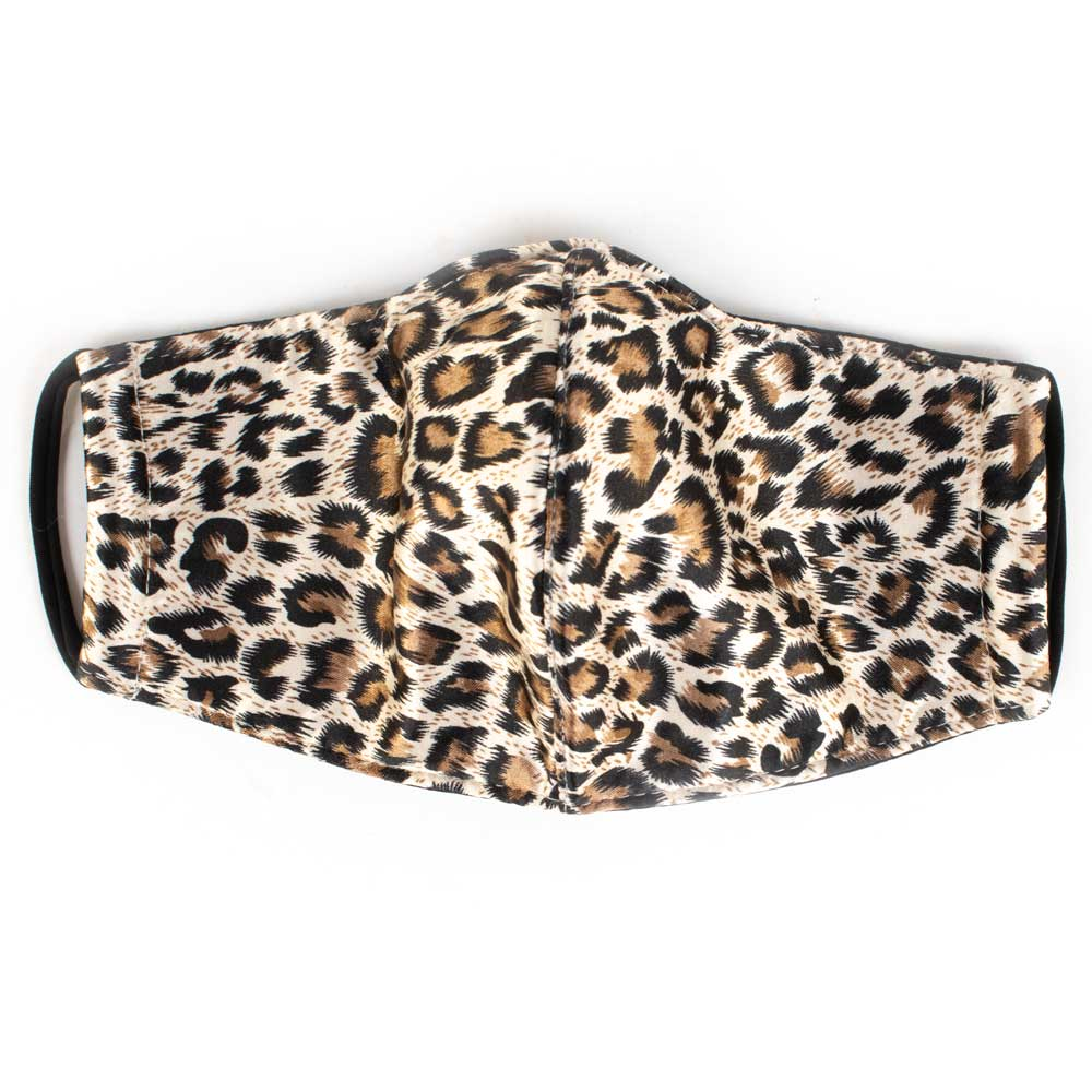 Satin Leopard Face Mask WOMEN - Accessories - Small Accessories Space 46 Teskeys
