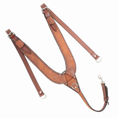 Teskey's Roughout Pulling Collar With Buckstitching Tack - Breast Collars Teskey's Teskeys
