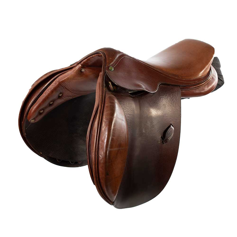 "16""MW Used Henri De Rivel Pro Show Jumping Saddle Tack - English Tack & Equipment - English Saddles Teskeys Teskeys"