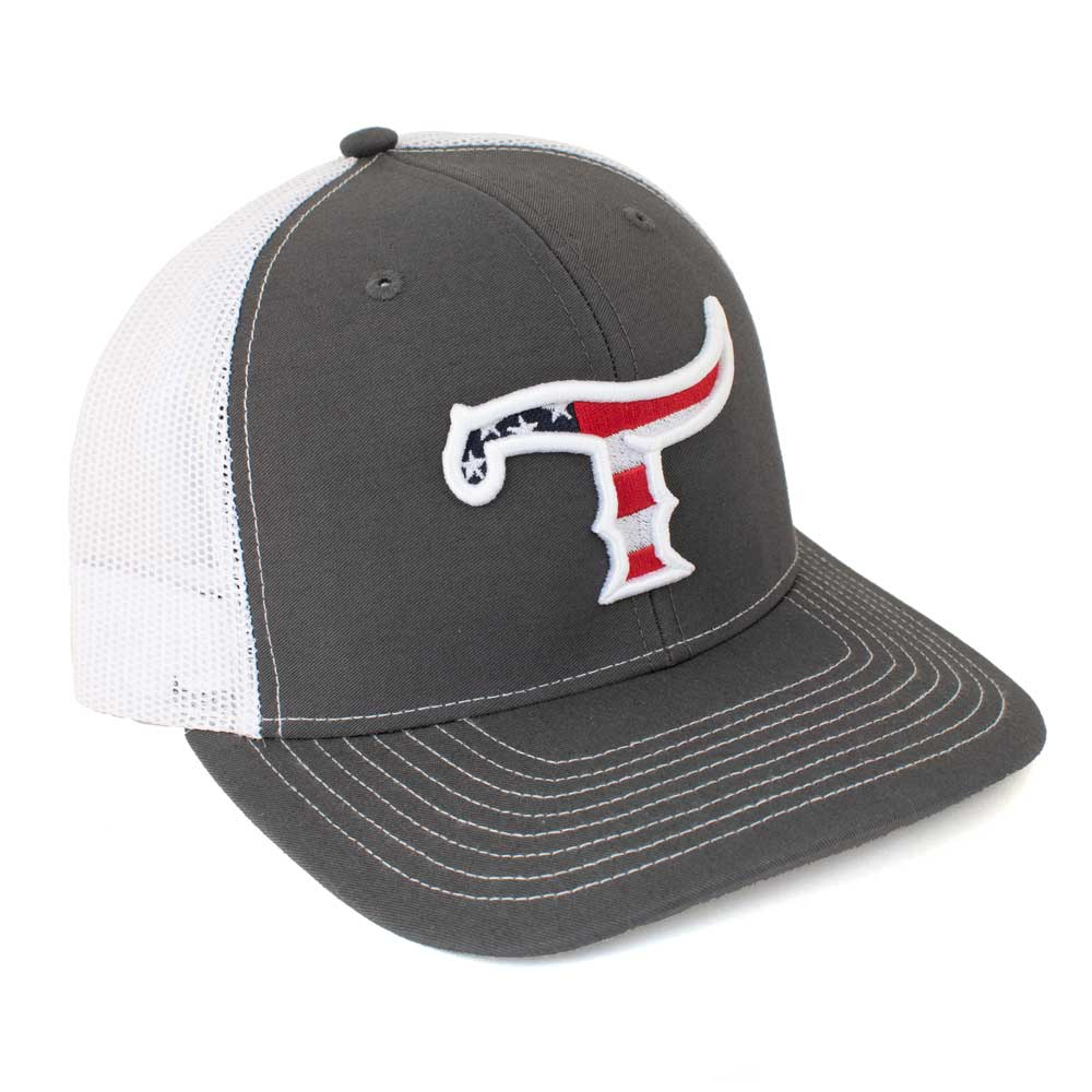 Teskey's T Logo American Flag Cap TESKEY'S GEAR - Baseball Caps RICHARDSON Teskeys