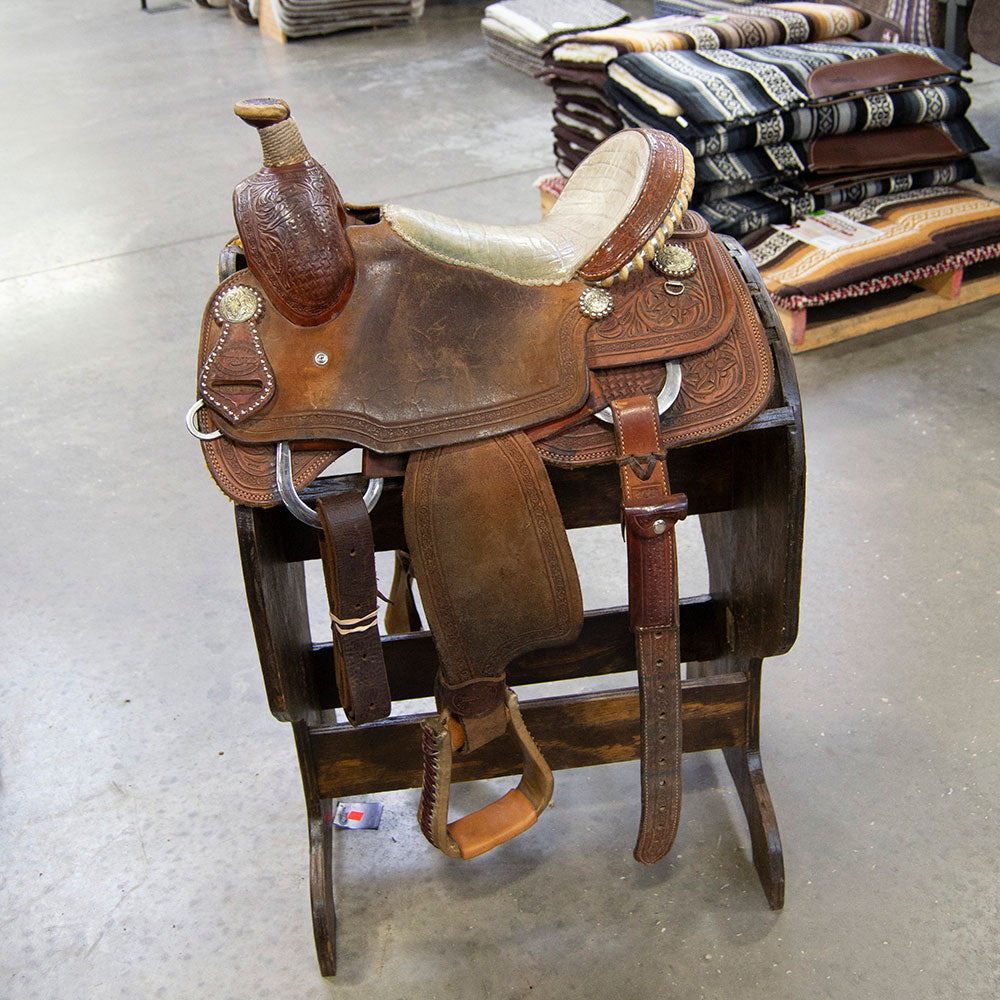 "13.5"" USED TESKEY'S YOUTH ALL AROUND SADDLE Saddles - Used Saddles - ALL AROUND Teskey's Teskeys"