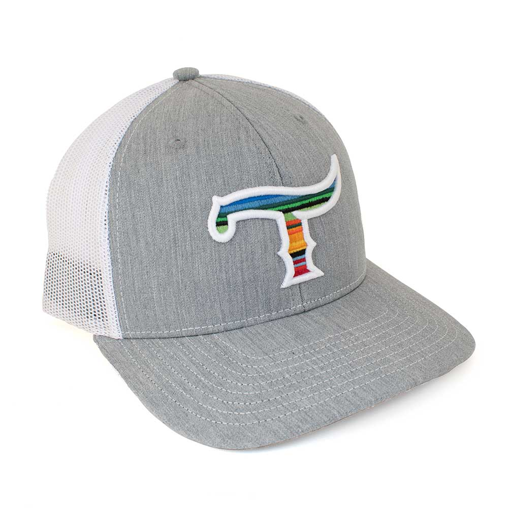 Teskey's T Logo Cap - Heather Grey/White, Serape/White Logo TESKEY'S GEAR - Baseball Caps RICHARDSON Teskeys