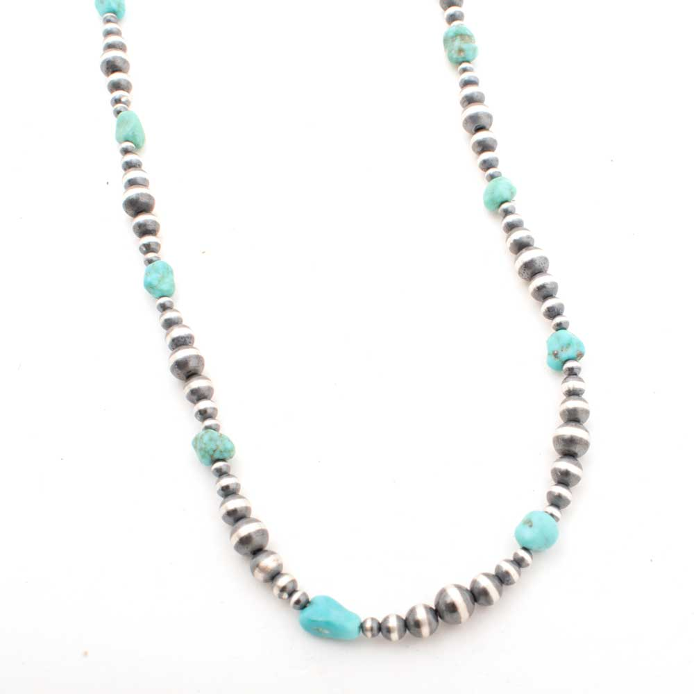 "Desert Pearl w/ Turquoise 18"" Necklace WOMEN - Accessories - Jewelry - Necklaces Shady Lady & Co Teskeys"