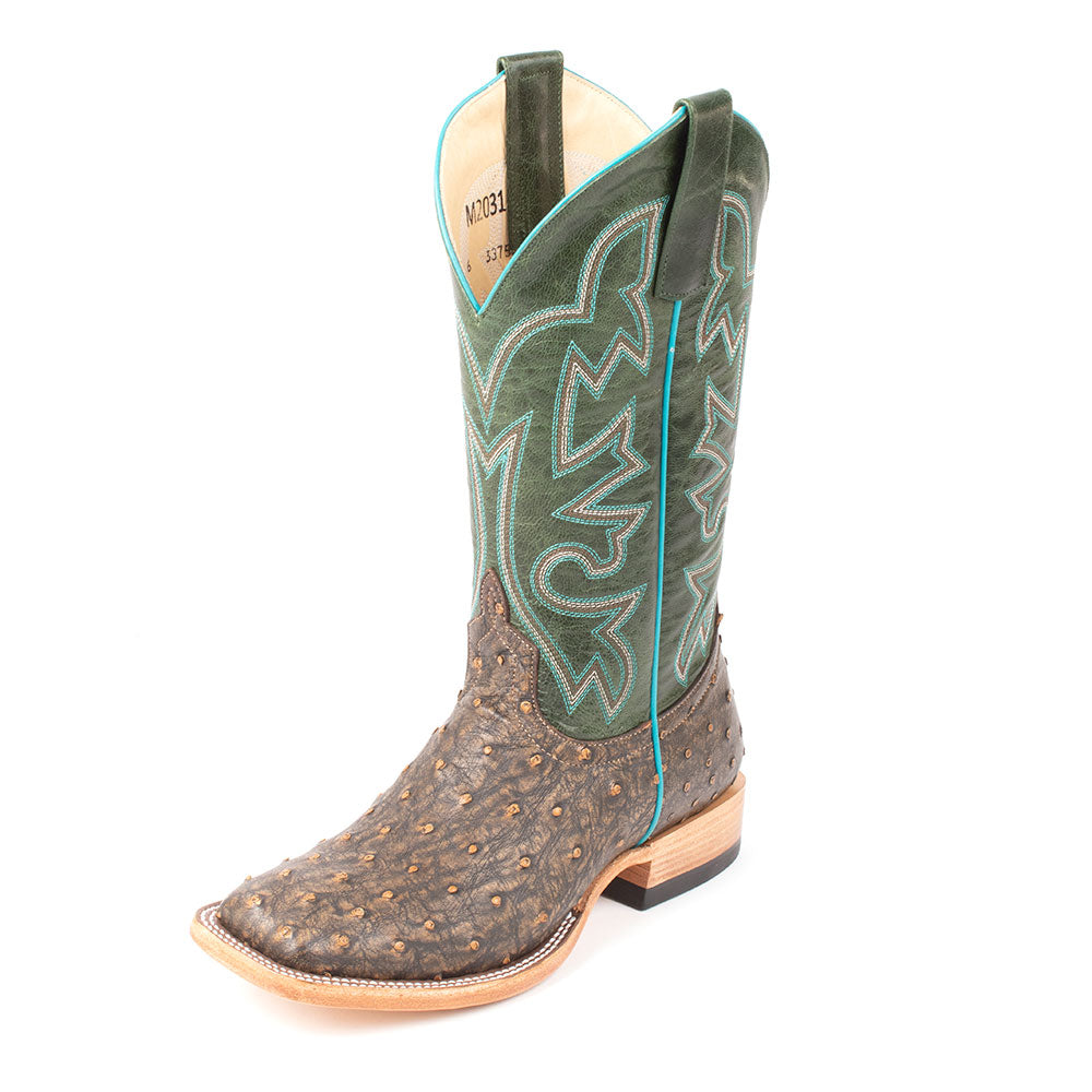 Macie Bean Saddle Ostrich Boot WOMEN - Footwear - Boots - Western Boots ANDERSON BEAN BOOT CO. Teskeys