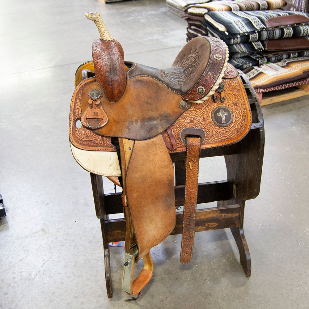 "12"" USED MARTHA JOSEY BAREL SADDLE Saddles - Used Saddles - BARREL Martha Josey Teskeys"
