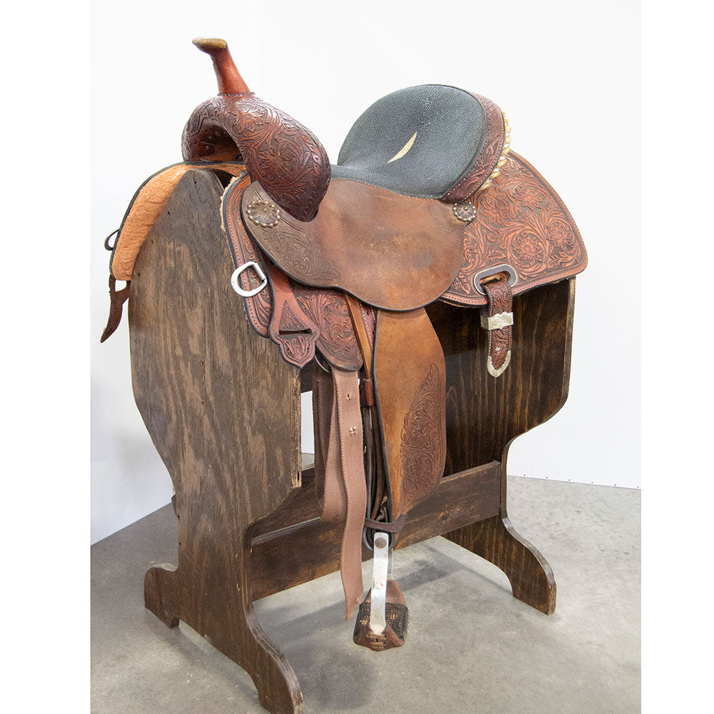"14"" USED CIRCLE Y BARREL SADDLE"