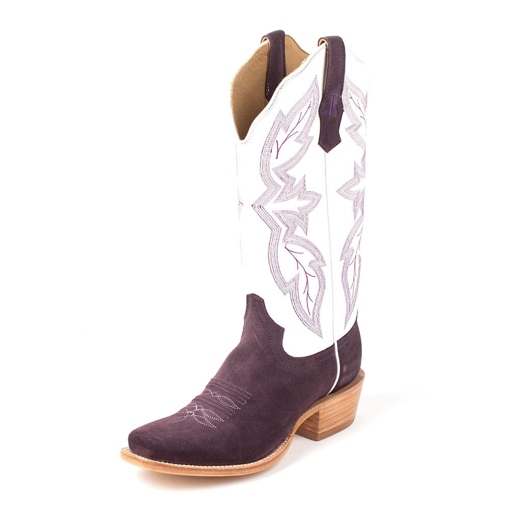 R. Watson Purple Rough-Out Boot WOMEN - Footwear - Boots - Western Boots R WATSON Teskeys