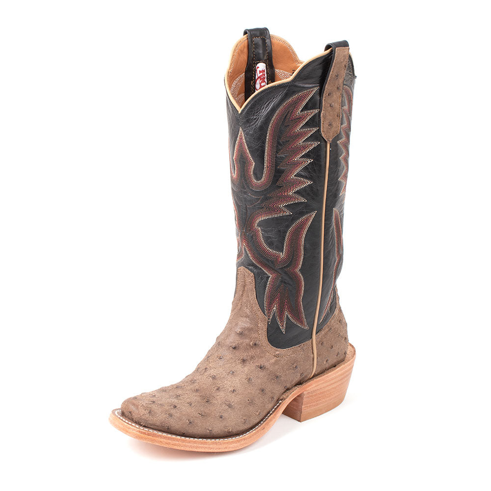 Rios of Mercedes Mink Full Quill Ostrich Boot MEN - Footwear - Exotic Western Boots RIOS OF MERCEDES BOOT CO. Teskeys