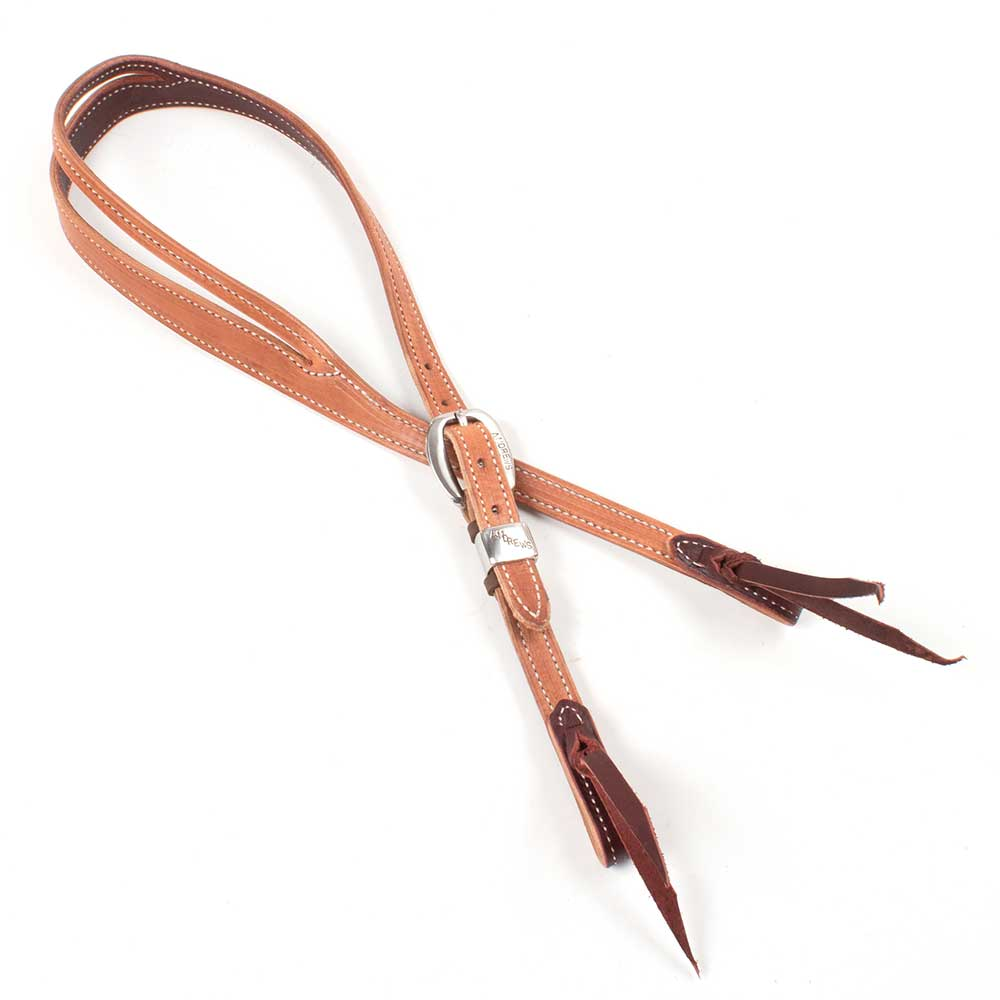 "Teskey's 3/4"" Stitched Slit Ear Andrews Buckle Headstall Tack - Headstalls - One Ear Teskeys Teskeys"