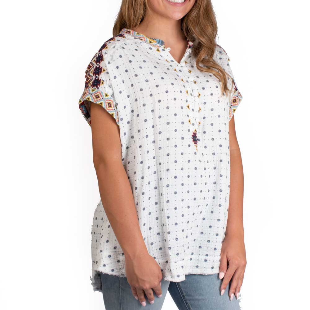 Johnny Was Pescacio Blouse WOMEN - Clothing - Tops - Short Sleeved JOHNNY WAS COLLECTION Teskeys